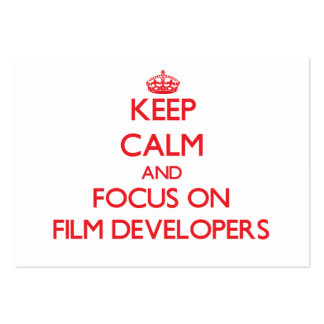 Keep Calm and focus on Film Developers Business Card Templates