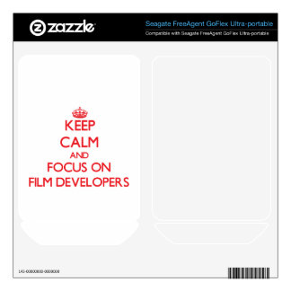 Keep Calm and focus on Film Developers FreeAgent GoFlex Decals