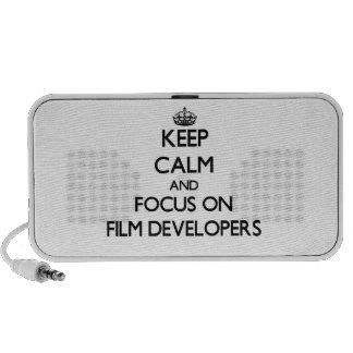 Keep Calm and focus on Film Developers Mini Speaker