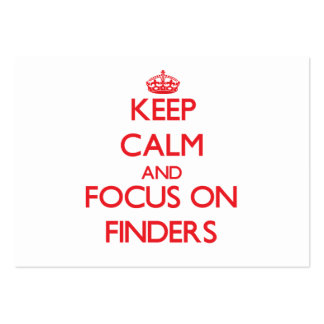 Keep Calm and focus on Finders Large Business Cards (Pack Of 100)