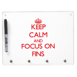 Keep Calm and focus on Fins Dry Erase Whiteboards
