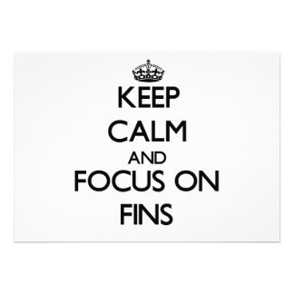 Keep Calm and focus on Fins Announcements