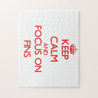 Keep Calm and focus on Fins Jigsaw Puzzle