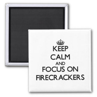 Keep Calm and focus on Firecrackers Fridge Magnet