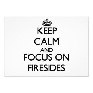 Keep Calm and focus on Firesides Custom Invitation