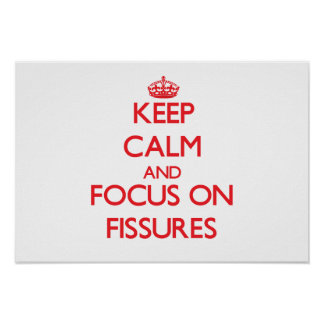 Keep Calm and focus on Fissures Posters