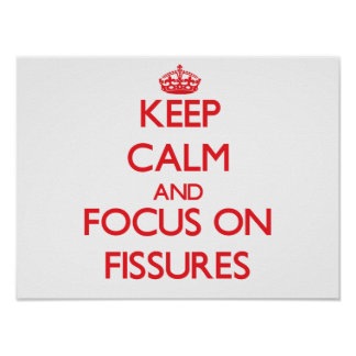 Keep Calm and focus on Fissures Poster