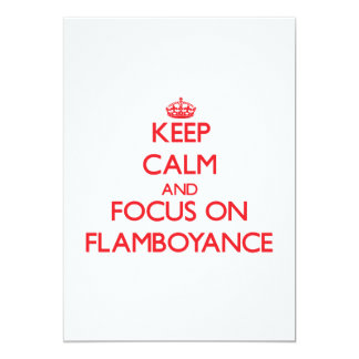 Keep Calm and focus on Flamboyance Announcements