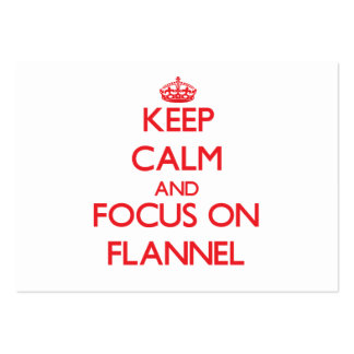 Keep Calm and focus on Flannel Business Cards