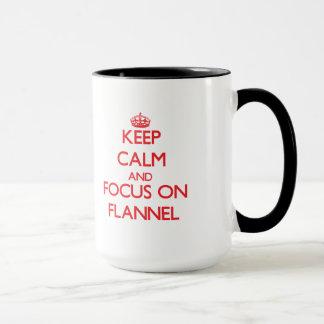 Keep Calm and focus on Flannel Mug