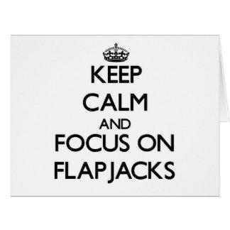 Keep Calm and focus on Flapjacks Large Greeting Card