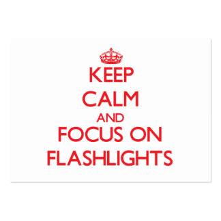 Keep Calm and focus on Flashlights Large Business Cards (Pack Of 100)