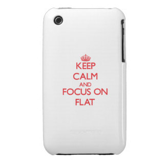 Keep Calm and focus on Flat Case-Mate iPhone 3 Cases