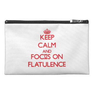 Keep Calm and focus on Flatulence Travel Accessories Bags