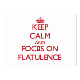 Keep Calm and focus on Flatulence Business Cards