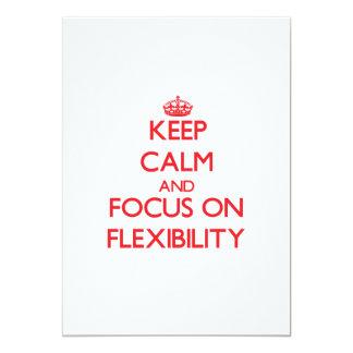 Keep Calm and focus on Flexibility 5x7 Paper Invitation Card