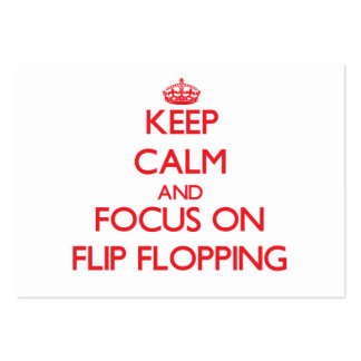 Keep Calm and focus on Flip Flopping Business Card Templates