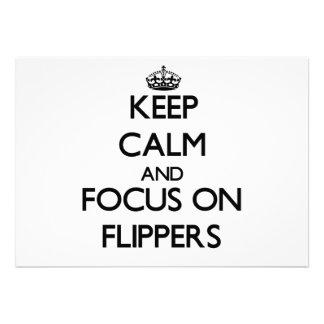 Keep Calm and focus on Flippers Custom Invite