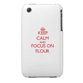Keep Calm and focus on Flour iPhone 3 Cover