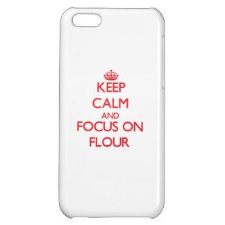 Keep Calm and focus on Flour iPhone 5C Cases