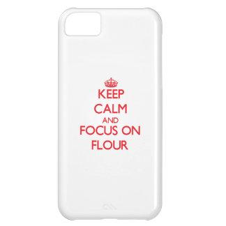 Keep Calm and focus on Flour iPhone 5C Cover