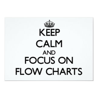 Keep Calm and focus on Flow Charts 5x7 Paper Invitation Card