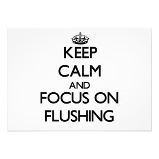 Keep Calm and focus on Flushing Personalized Invite