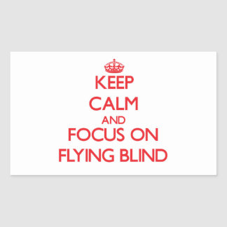 Keep Calm and focus on Flying Blind Rectangular Sticker
