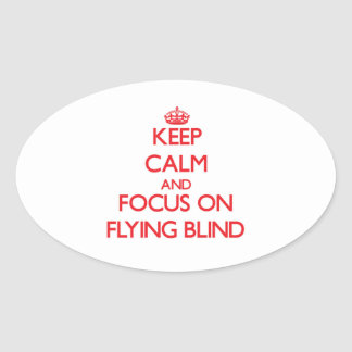 Keep Calm and focus on Flying Blind Oval Sticker