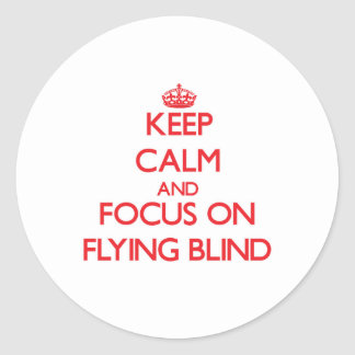 Keep Calm and focus on Flying Blind Classic Round Sticker