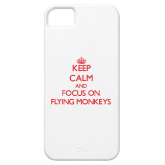 Keep Calm and focus on Flying Monkeys iPhone 5/5S Covers