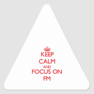 Keep Calm and focus on Fm Triangle Sticker
