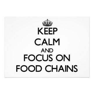 Keep Calm and focus on Food Chains Custom Announcements