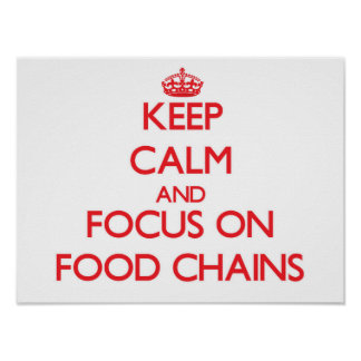 Keep Calm and focus on Food Chains Posters