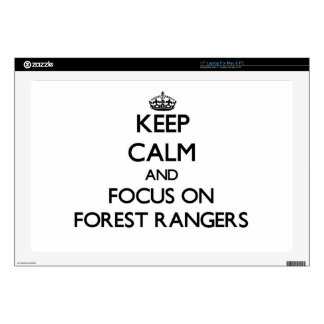 """Keep Calm and focus on Forest Rangers 17"""" Laptop Skins"""