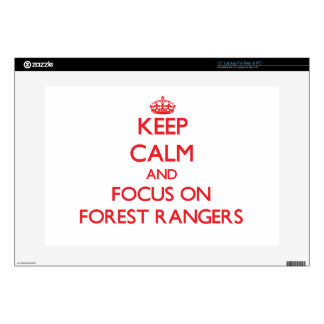 """Keep Calm and focus on Forest Rangers 15"""" Laptop Skins"""