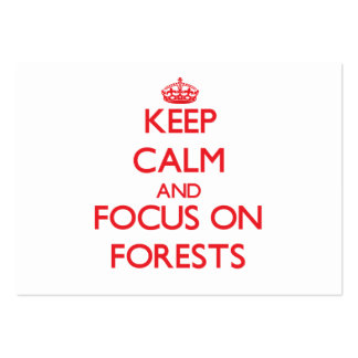 Keep Calm and focus on Forests Large Business Cards (Pack Of 100)