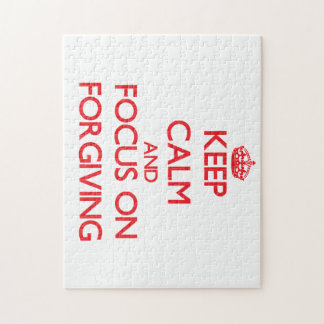 Keep Calm and focus on Forgiving Jigsaw Puzzle