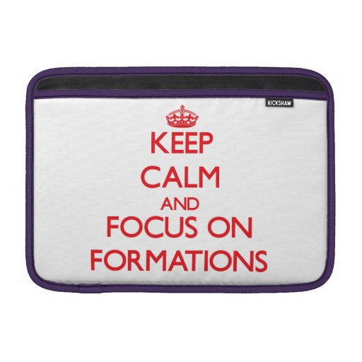 Keep Calm and focus on Formations Sleeve For MacBook Air