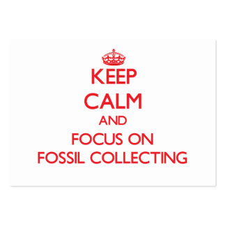 Keep calm and focus on Fossil Collecting Business Card Template