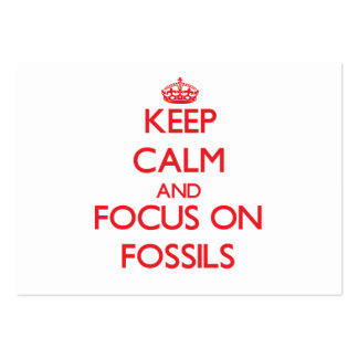 Keep Calm and focus on Fossils Business Card Template