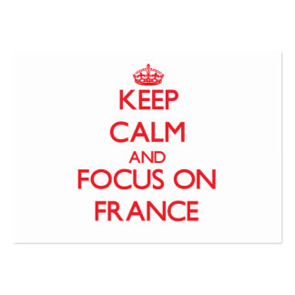 Keep Calm and focus on France Business Card Templates