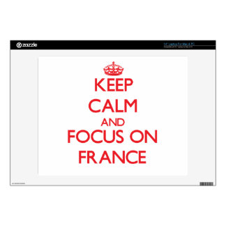 Keep Calm and focus on France Laptop Decals