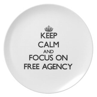 Keep Calm and focus on Free Agency Party Plate