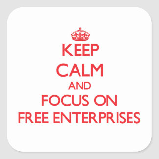 Keep Calm and focus on Free Enterprises Stickers