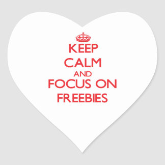 Keep Calm and focus on Freebies Stickers