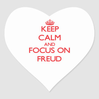 Keep Calm and focus on Freud Heart Sticker