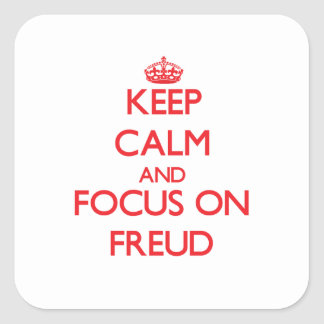 Keep Calm and focus on Freud Sticker
