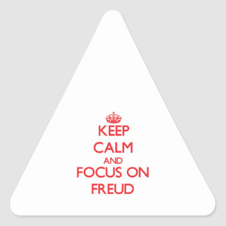 Keep Calm and focus on Freud Stickers