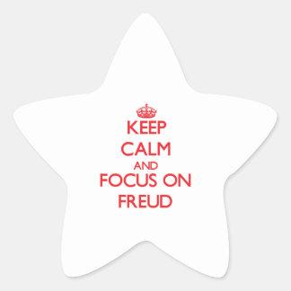 Keep Calm and focus on Freud Star Sticker